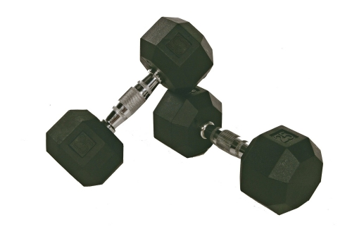 Troy VTX 8 Sided Rubber Encased Dumbbells 5-100lbs Set SD-005-100-R