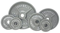 USA Olympic Weight Plate Set Gray O-255